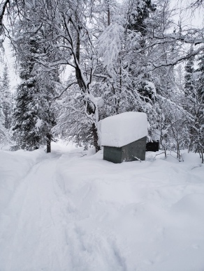 Buried outhouse